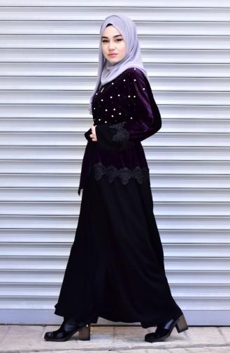 Purple Abaya 7710-02