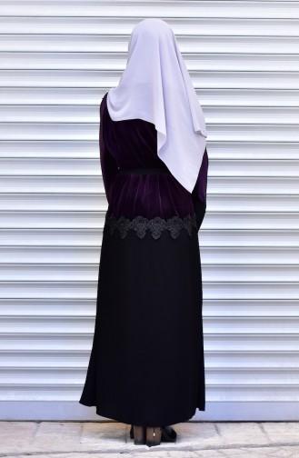 Abaya mit Perlen 7710-02 Lila 7710-02