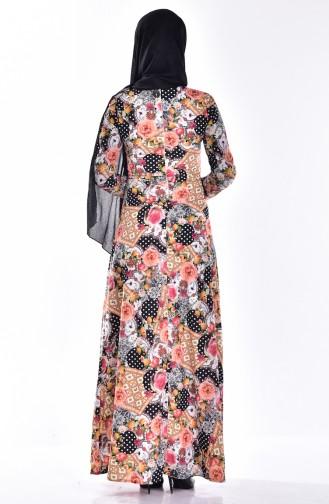 فستان بتصميم مطبع  0009-01