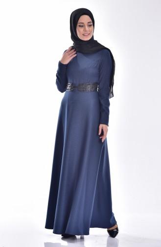 Decorated Dress 0599-03 Blue 0599-03