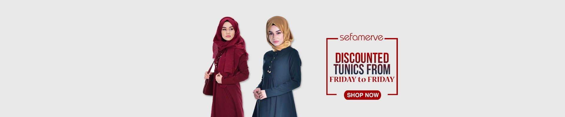 Discounted Tunics from Friday to Friday