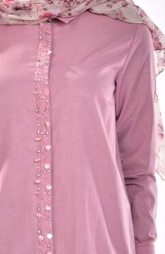 قميص زهري باهت 1001-01