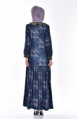 فستان بتفاصيل من الكشكش  7470-03