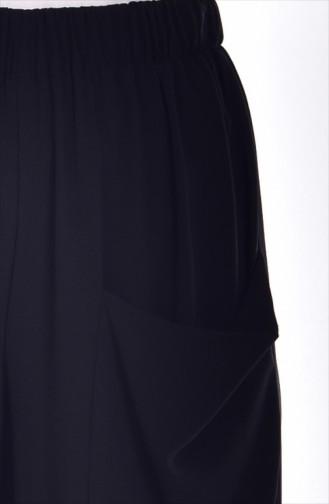 Pantalon Large avec Poches 0550-03 Noir 0550-03