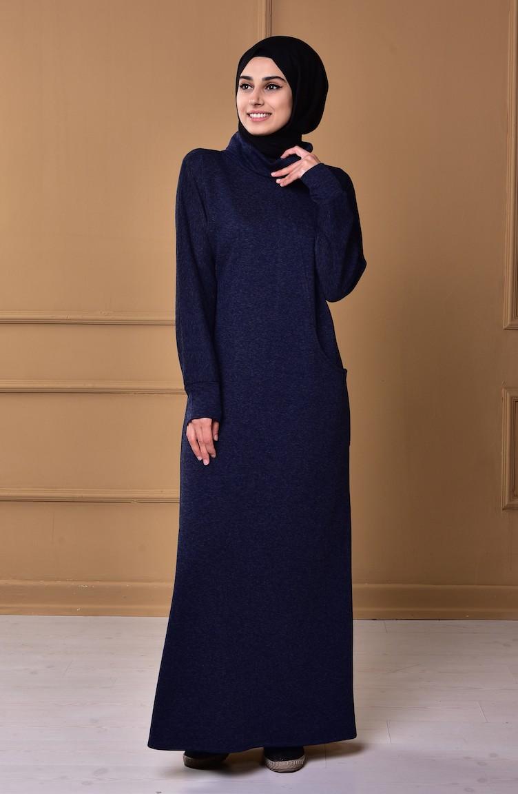 0f77ccc368c Navy Blue Dress 2861-07 ...