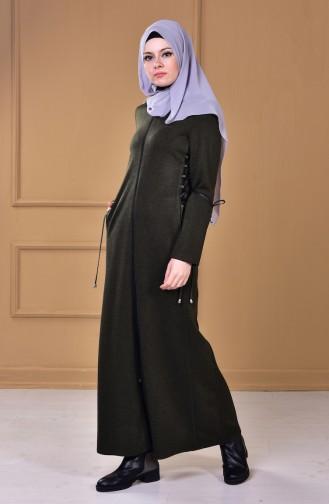 Khaki Abaya 2455-03