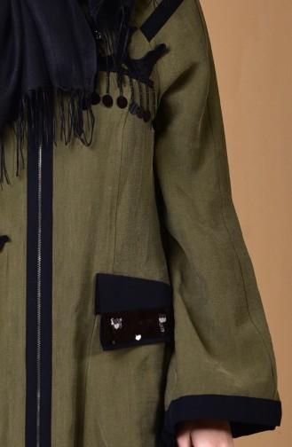 معطف مُزين بتفاصيل من الترتر 5035-01