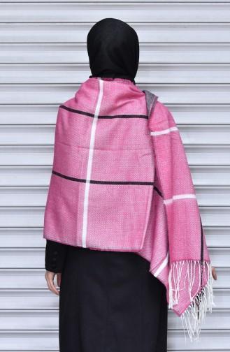 Gestreifter Schulterschal  7686-08 Pink 08