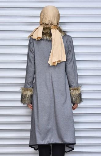 Furry Cape 6761-02 Gray 6761-02