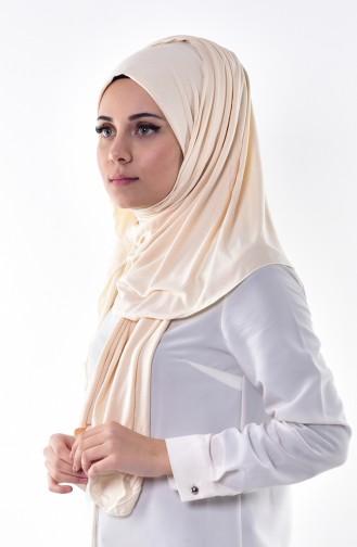 Sefamerve Sedef Schal aus Gekämmte Baumwoll 96 Hell Beige 96