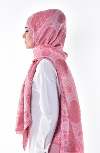 Silbriges Schal  7689-09 Pink 09