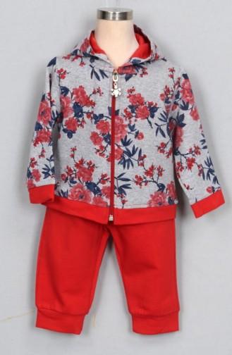 Kız Bebek Eşofman Takım 9209-01 Kırmızı