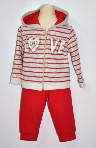 Kız Bebek Eşofman Takım 9215-01 Kırmızı