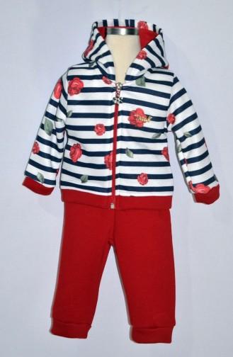 Kız Bebek Eşofman Takım 9273-01 Kırmızı