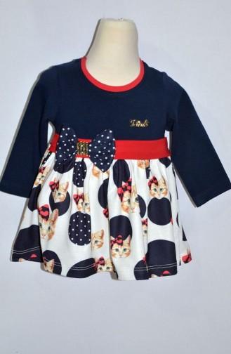 Kız Bebek Elbise 9277-01 Kırmızı