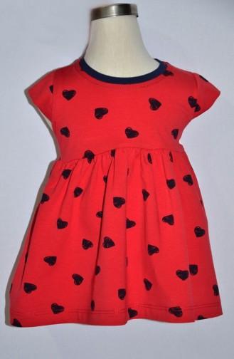Kız Bebek Bolerolu Elbise 9225-01 Kırmızı