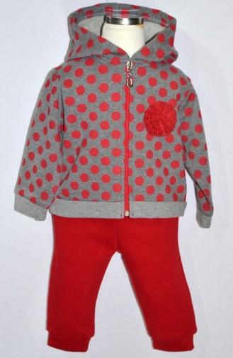 Kız Bebek Eşofman Takım 8209-01 Kırmızı