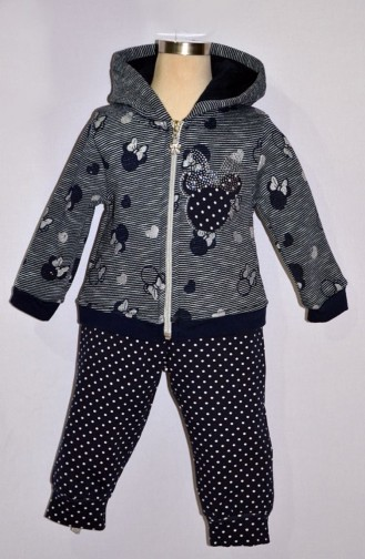 Navy Blue Baby and Kids Sweatsuit 9282-02