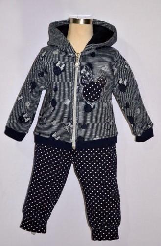 Kız Bebek Eşofman Takım 9282-02 Lacivert