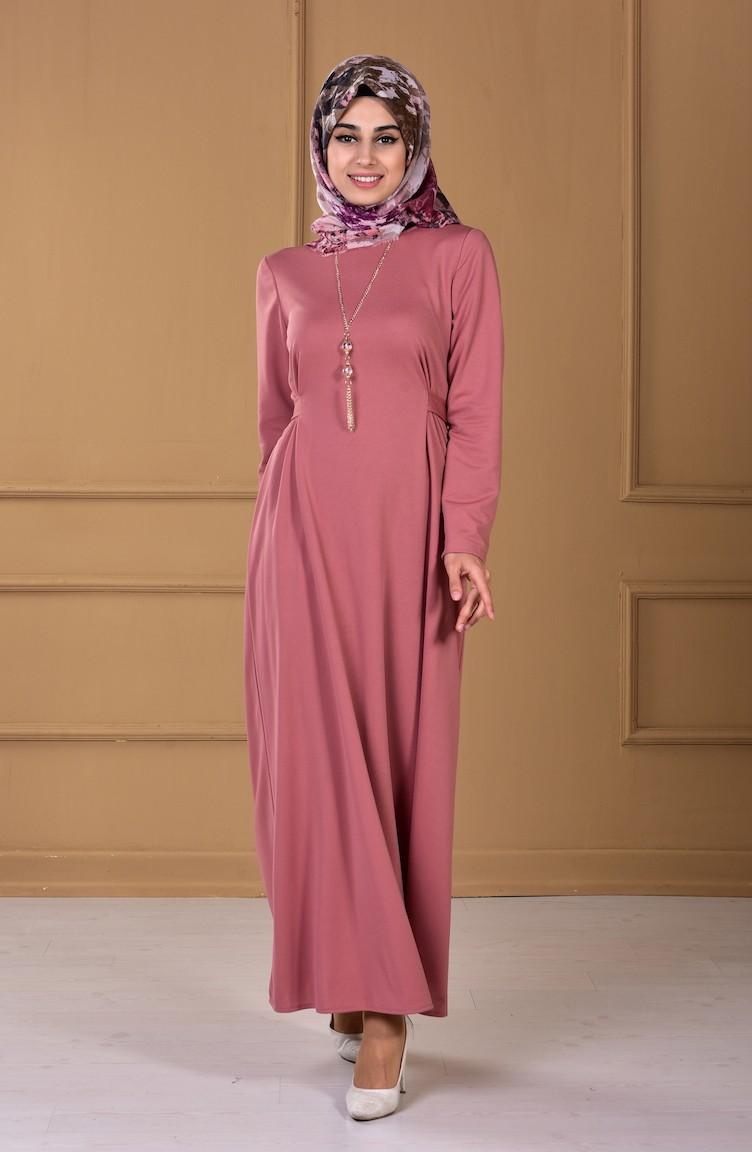 beige rose hijap kleider 8011 05. Black Bedroom Furniture Sets. Home Design Ideas