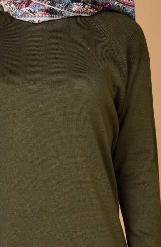 Strickpullover 2012-01 Khaki 2012-01