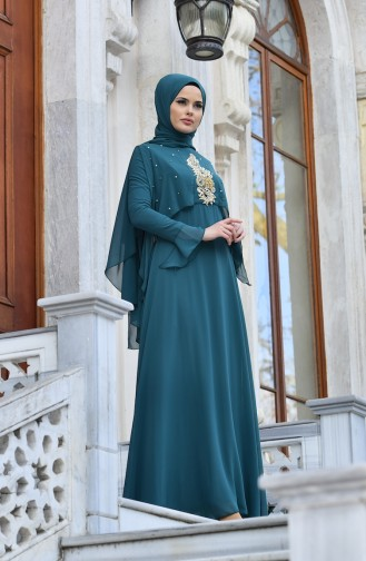Emerald Islamic Clothing Evening Dress 1422-01