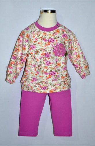 Kız Bebek Eşofman Takım 9293-02 Mürdüm