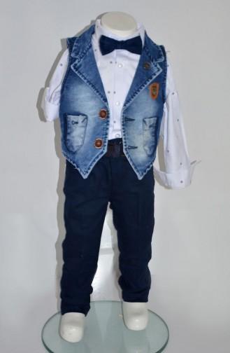 Erkek Çocuk Yelekli Takım 2433-01 Lacivert