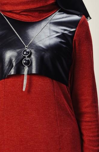 فستان بتصميم ياقة متدلية مزين بسلسال  9211-01