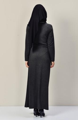 فستان بتصميم ياقة متدلية مزين بسلسال  9211-04