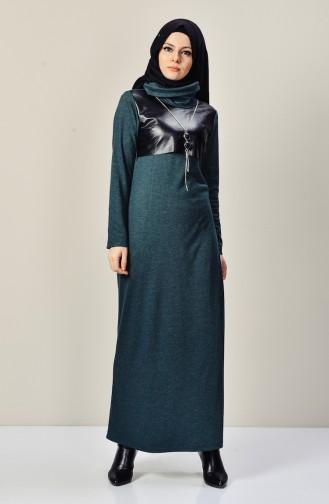 فستان بتصميم ياقة متدلية مزين بسلسال  9211-05