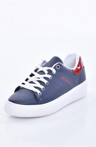 Navy Blue Sport Shoes 0778-07