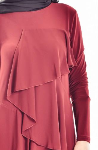 Robe Volante 1026-02 Bordeaux 1026-02