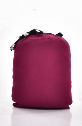 صفامروة فستان صلاة بتصميم سادة و حقيبة بمقاسات كبيرة 0900B-01 لون فوشيا 0900B-01