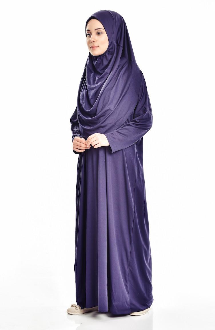 c78d4ae173c Sefamerve Robe de Prière Pratique avec Sac 0900-02 Bleu marine 0900-02