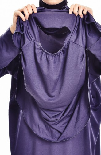 Sefamerve Büyük Beden Çantalı Pratik Namaz Elbisesi 0900B-02 Lacivert 0900B-02