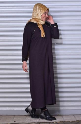 Abaya mit Reißverschluss  1498-03 Zwetschge 1498-03