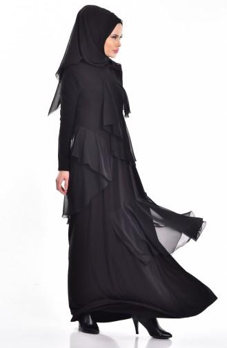 Weitgehendes Kleid   1026-01 Schwarz 1026-01