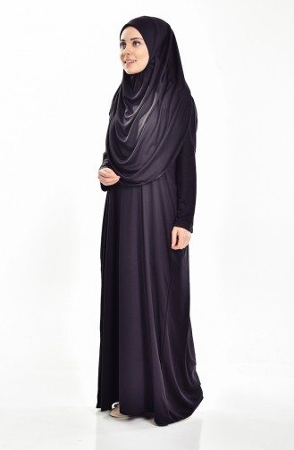 Sefamerve Practical Prayer Dress with Bag 0900-01 Black 0900-01