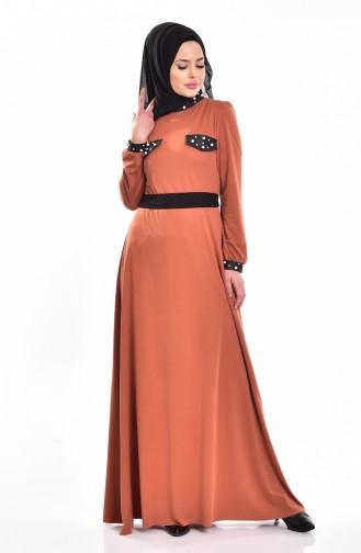Robe Perlées 1004-02 Orange 1004-02