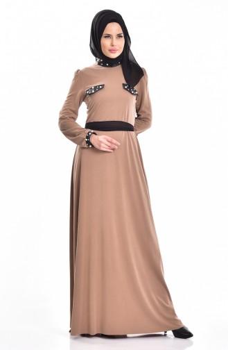 فستان بتفاصيل من اللؤلؤ  1004-01