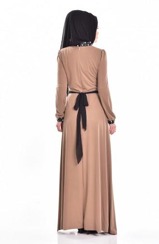Robe Perlées 1004-01 Vison 1004-01