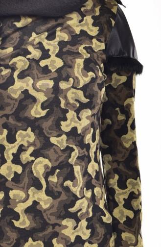 Tunique Cuir Garnie 9085-01 Khaki 9085-01