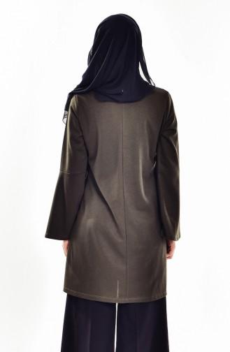 Dilber  Necklace Blouse 4085-01 Khaki 4085-01