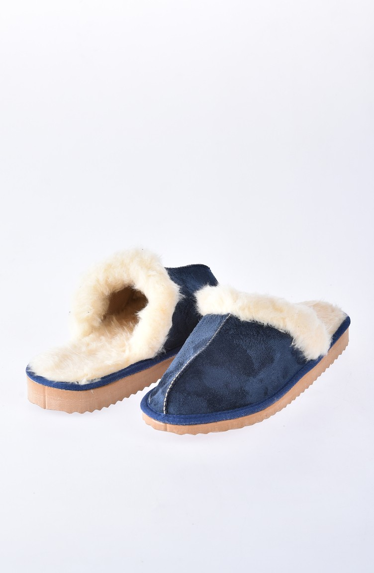 1ce355f19 Navy Blue Woman home slippers 50178-04