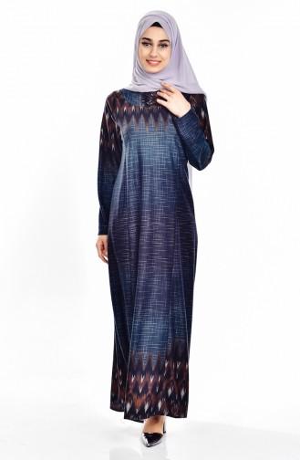 Khaki Hijab Dress 9002-01
