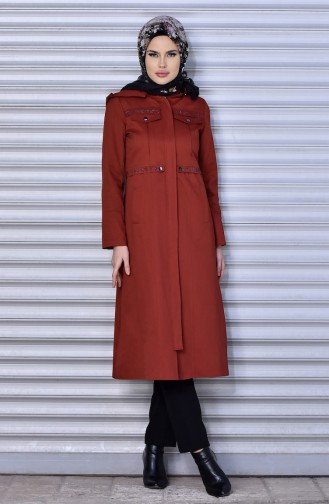 Stone Zippered Trench Coat 6777-01 Tile 6777-01