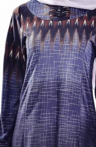 فستان أزرق كحلي 9002-02