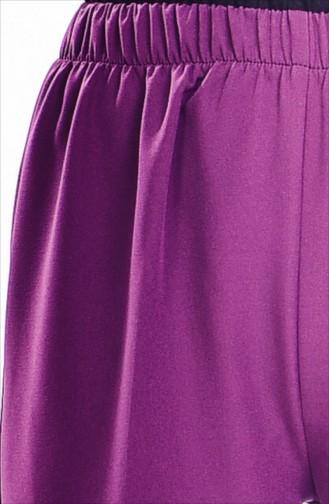 Pantalon Large élastique 2068-07 Plum 2068-07