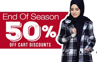 Discount for End of Season 50% Discount on Cart